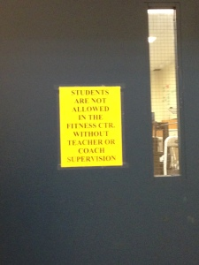 The fitness center is now closed after school. Photo by Ashika Shah.