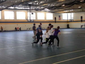 Members of the team practice. Photo by Jenna Kosinski.
