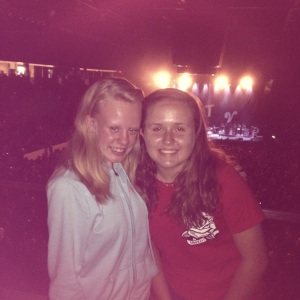 Zara Silva-Landry (right) invited her friend, fellow freshman Hannah Johnson, to the concert featuring All Time Low and other bands. (Courtesy Photo)