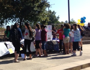 Students check out extracurricular opportunities at the club fair. (Staff photo)