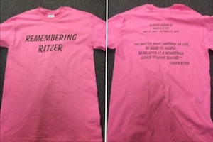 """Sales of the """"Remembering Ritzer"""" pink T-shirts will benefit the scholarship fund named for Colleen Ritzer. (Courtesy Photo)"""