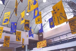 The banners that once hung in the foyer are a thing of the past...but will they return? (Staff Photo)