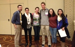 AHS attendees at the conference included, from left, Mr. Aubrey, Jenna Kosinski, Alison Murtagh, Steven Kimball, Marisa Dellatto, and Tarushi Sharma. Also in attendance were Nick Valeri and Mrs. Whalen. (Photo by Mrs. Whalen)