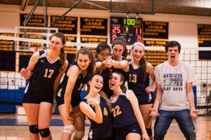 The girls varsity volleyball team had the look of unexpected champions this year, but came up short in tournament play.