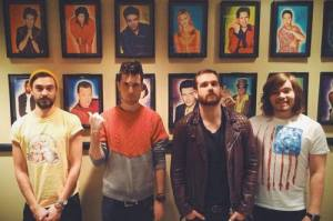 The band on set for SNL. (Source: Bastille website)
