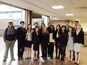 Members of the Mock Trial Club.