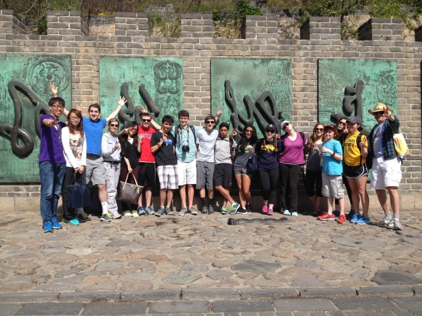 """""""What was fun about this shot is that the Chinese tourists took more pictures of us than we did!"""" Dr Lord"""