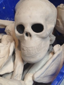 Ceramic skull, courtesy of AHS students.