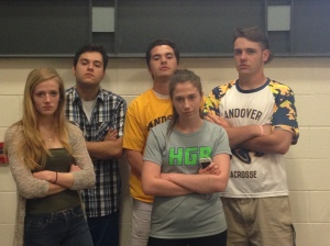 The new Jungle Council -- from left, Maggie Danisch, Evan Pantely, Brendan Slattery, Grace Perigaut, and Chris Tully -- already have their game faces on for next season. (Photo by Jenna Kosinski)