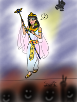 Cleopatra cartoon by Sam Zhang