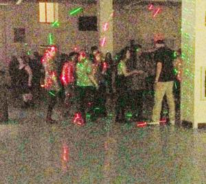 Students enjoy Fall Fest Dance 2014. (Photo and effects byAlexandra Scott)