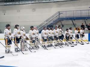 The girls varsity ice hockey team aims to go far this season. (Photo by Alexandra Scott)