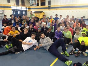 The track team's inclusiveness allows participants to meet students they otherwise might not know. (Photo by Laura O'Brien)