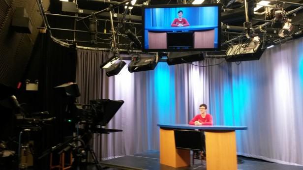 filming news program